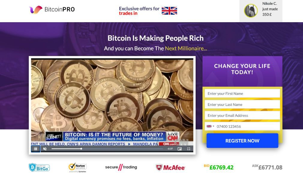 Bitcoin Pro Review